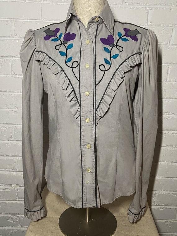 Vintage Western Appliqued Women's shirt M