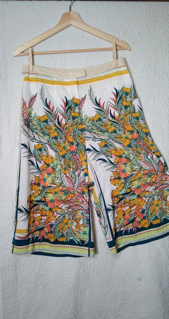 Vintage Silk Capri Pants