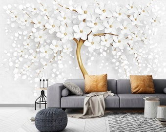 3D Colorful Flowers M071 Removable Wallpaper Self Adhesive Wallpaper Extra Large Peel /& Stick Wallpaper Wallpaper Mural AJ WALLPAPERS