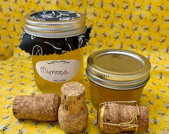 Mimosa Jelly 4oz - 8oz Jars - Homemade Canned - Bees Knees Jelly