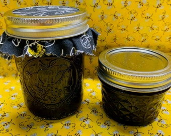 Cherry Amaretto Jam 4oz - 8oz Jars - Homemade Canned - Bees Knees Jelly