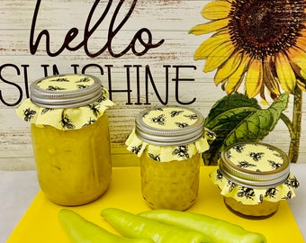 Hot Mustard 4oz - 8oz Jars - Homemade Canned - Bees Knees Jelly