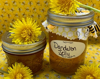 Dandelion Jelly 4oz - 8oz Jars - Homemade Canned - Bees Knees Jelly