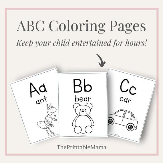 Alphabet Coloring Pages Preschool And Kindergarten Etsy