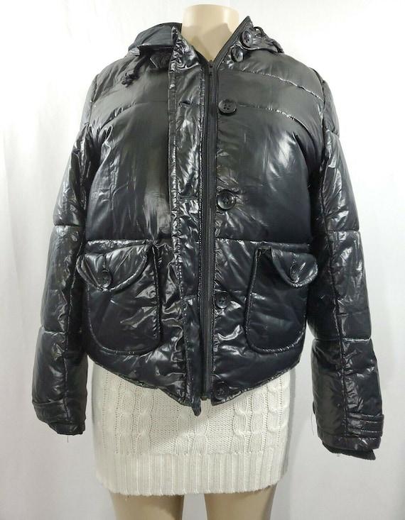 Womens Winter Coat   Black Down Coat Size L    Puf