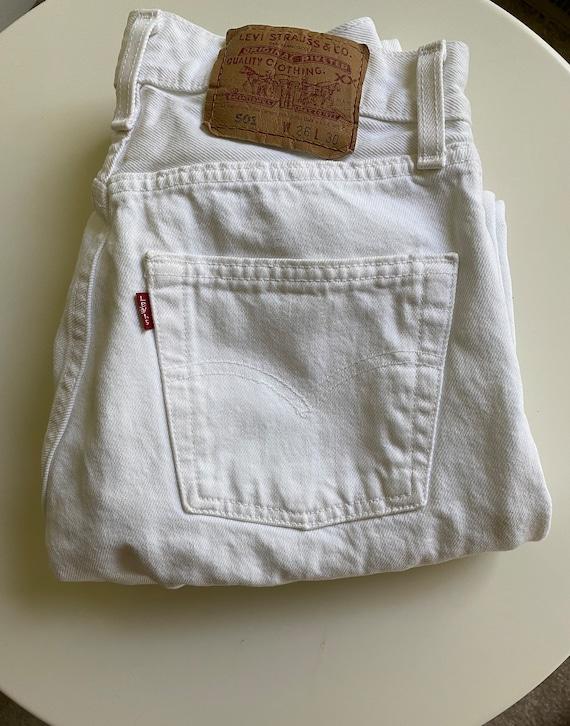 Vintage white Levi's jeans