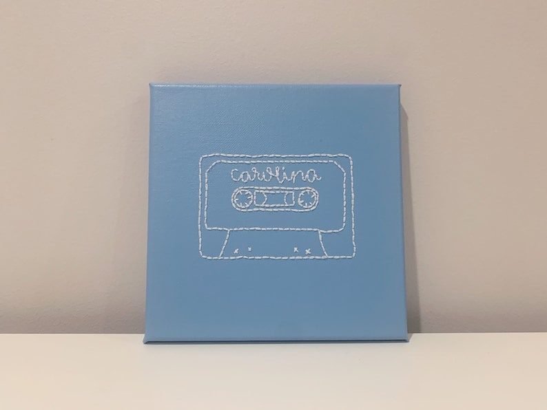 CUSTOM Embroidered Cassette Canvas