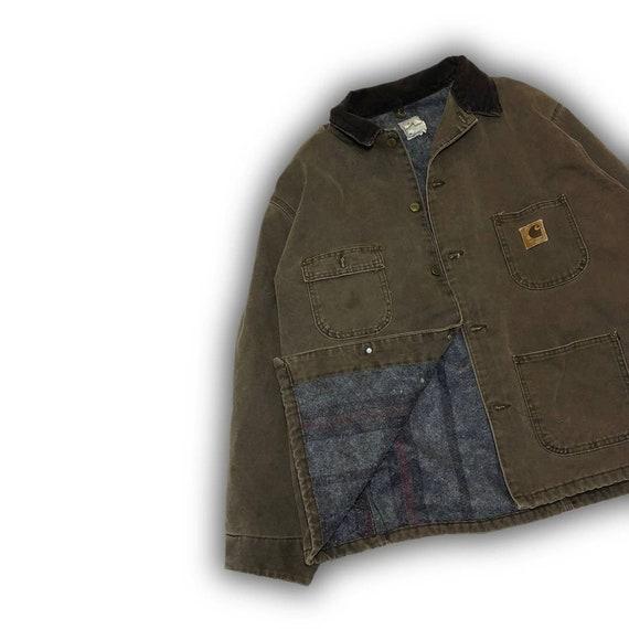 VINTAGE CARHARTT Blanket-Lined CHORE Coat