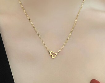 Tainted Heart Gold Necklace