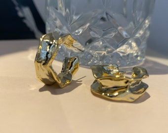 OuiOui Gold Hoop Earrings