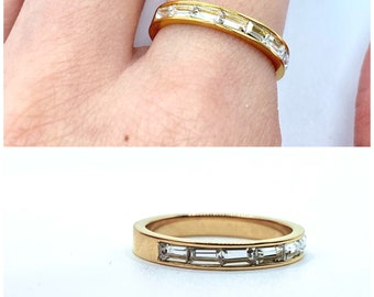 Thin Gold Band Dainty • 18k Ring Delicate Simple •  Stackable tiny Gold •  Dainty Minimalistic