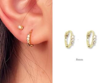 Tiny Hoop Earrings • 14k Gold Dainty Earrings • Huggie Hoops Earrings •  925 SilverEarrings • Minimalist Earrings