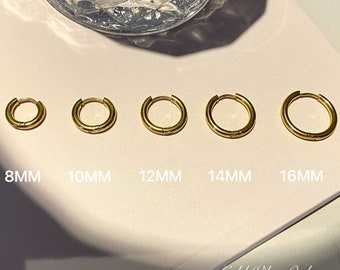 Simple Girl 18k Gold Plated Hypoallergenic Gold Hoops