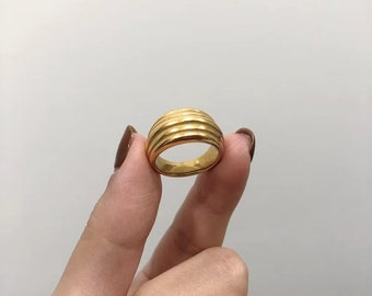 Thousand Threads Gold Statement Ring