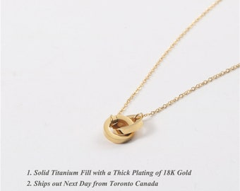 Intertwined Gold Necklace