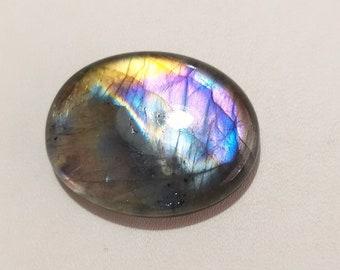 AAA+ Purple Flashy Spectrolite Natural Labradorite Cabochon 29X19X6 MM 29cts