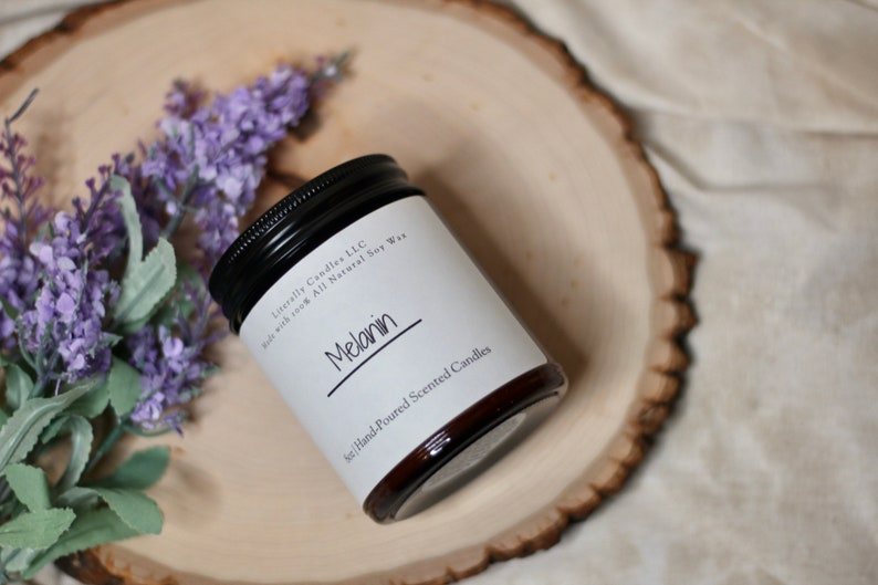 Melanin Scented Candle  Hand-poured  100% Soy Wax Candle image 1