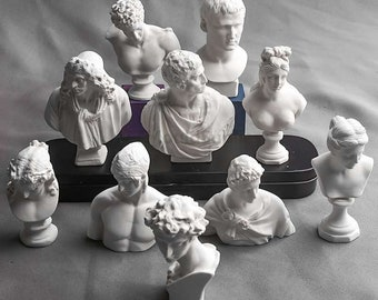 Greek Idol Venus David Sketch Portrait Plaster Silicone Mold DIY Statue Candle Mold Epoxy Resin Mold