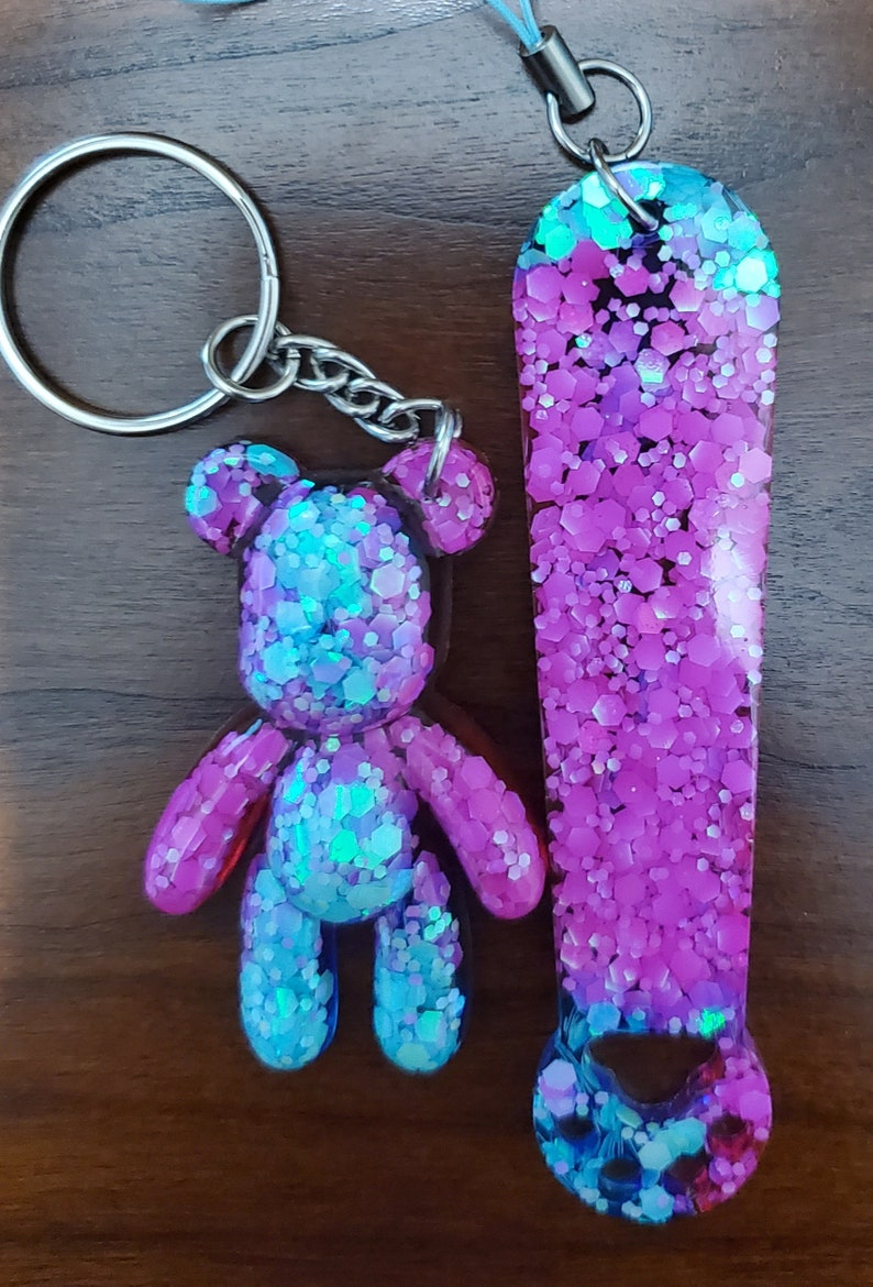 Bear Key Chain and Kitty Paw Bookmarker Combo