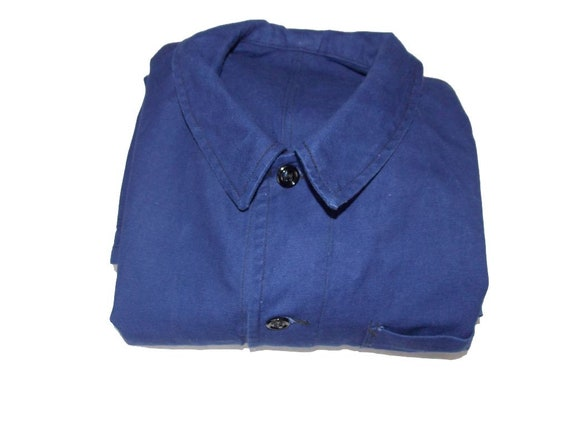 French vintage worker blue jacket 60's French drud