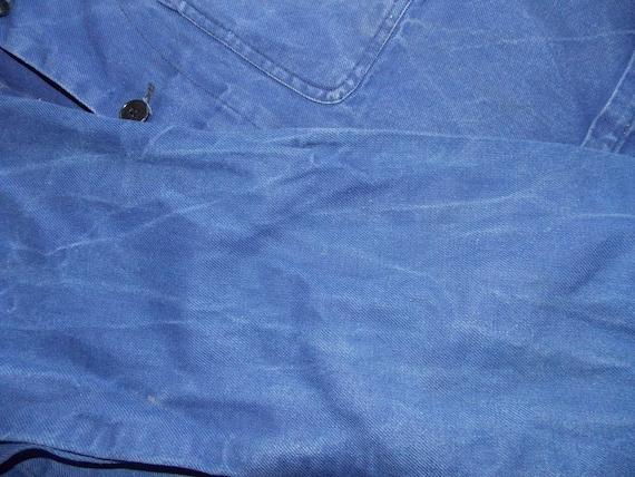 French worker blue jacket French workwear chore c… - image 4