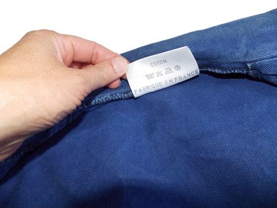 French worker blue jacket French workwear chore c… - image 6