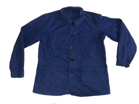 SNC St James Size M-L blue work jacket French work