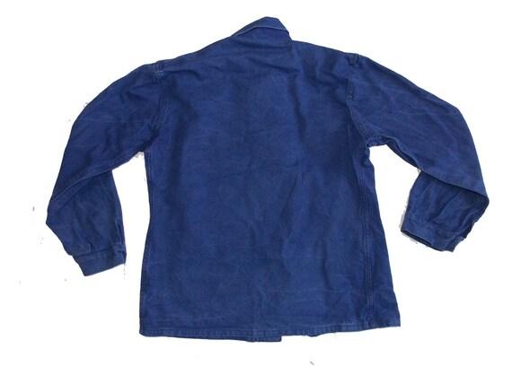 French worker blue jacket French workwear chore c… - image 5