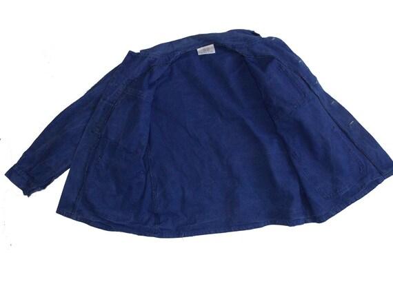 French worker blue jacket French workwear chore c… - image 7