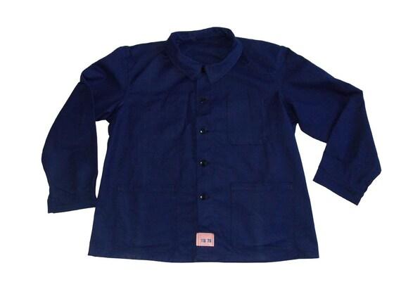 Unworn L-XL blue work jacket French worker deadsto