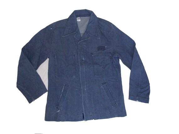 Blue work jacket vintage worker 70's French worker