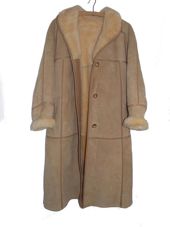 Sheep coat returned vintage leather skin woolly sk