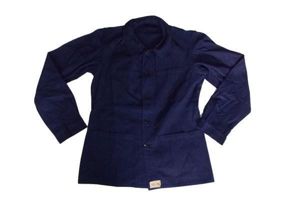 Unworn size M blue work jacket French worker dead