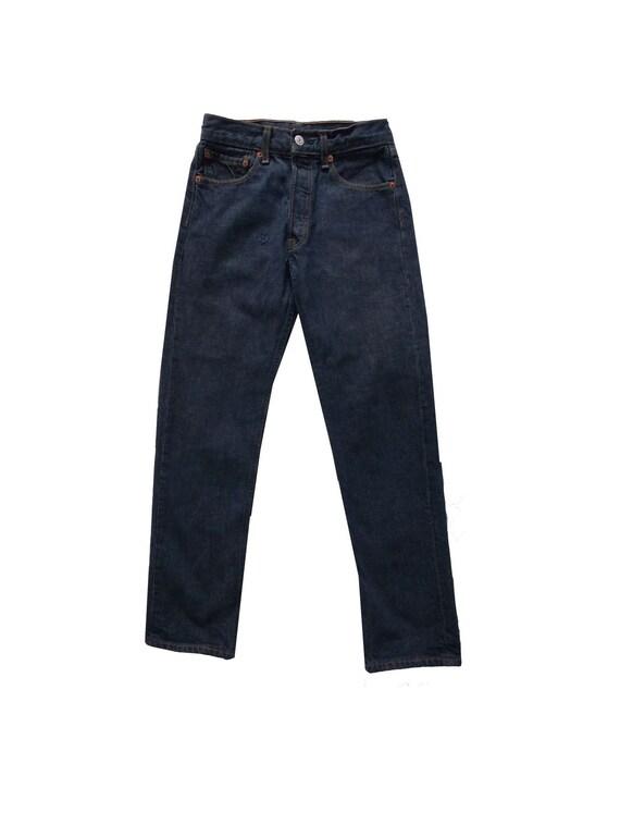 Jeans 501 Levis 28x30 vintage 90s patch virtuosite
