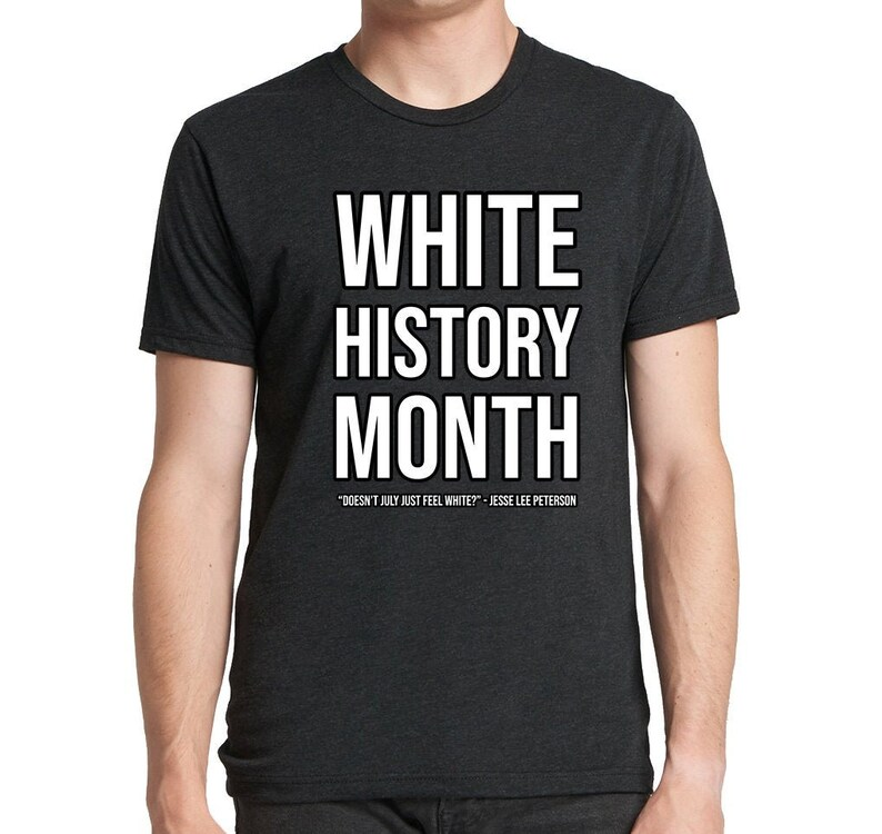 The Official White History Month T-shirt image 0