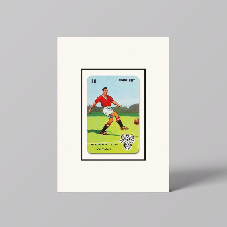 Manchester United Football Club Vintage Playing Card Wall Art