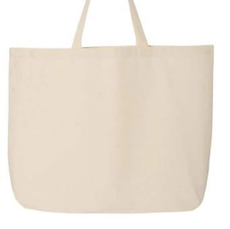 Jumbo-sized custom tote bags