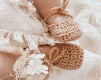 Ballerina Baby Shoes   Crochet Baby Ballerina Booties   Newborn Baby Photo Props   Ballerina Booties   Newborn Booties   Baby Shoes