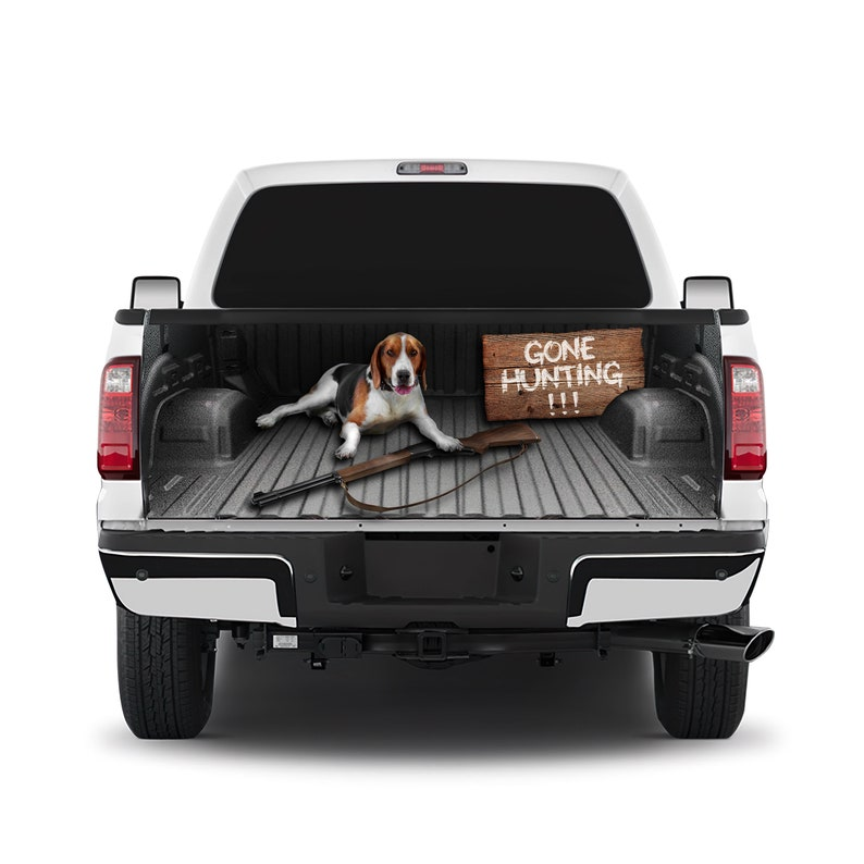 Gearhuman – Beagle Gone Hunting Funny graphic art Tailgate Wrap Decal