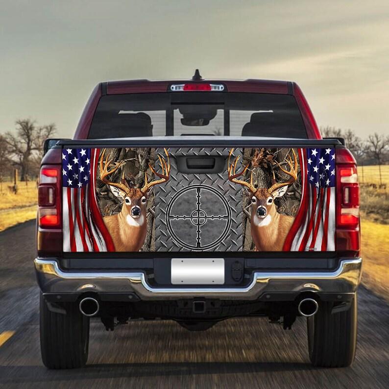 Gearhuman – Deer Hunting America Truck Tailgate Decal Sticker Wrap Hunting