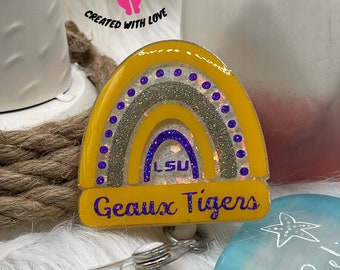 LSU badge reel Louisiana State University