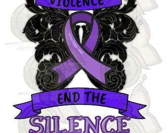 Stop Violence png instant digital dowload Domestic Violence PNG
