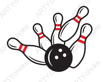 Bowling. Files prepared for Cricut. SVG Clip Art. Digital file available for instant download (eps, svg, pdf, dxf, png, jpeg)