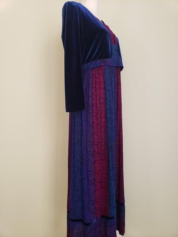 Vintage 1990s Karin Stevens Maxi Dress With Attac… - image 5