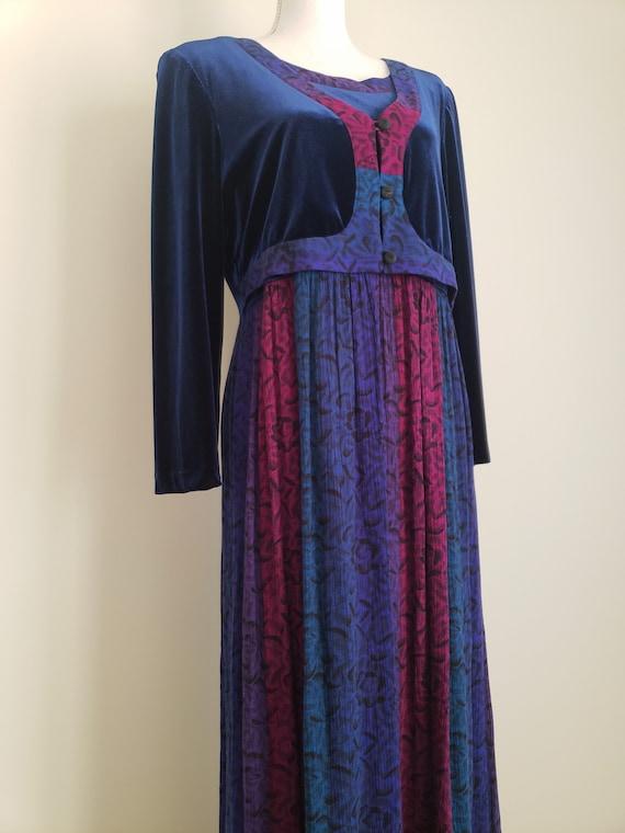 Vintage 1990s Karin Stevens Maxi Dress With Attac… - image 4