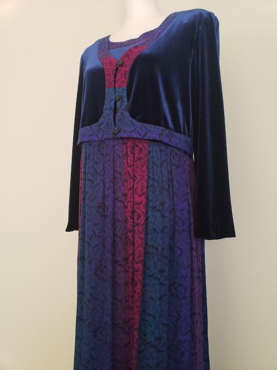 Vintage 1990s Karin Stevens Maxi Dress With Attac… - image 3