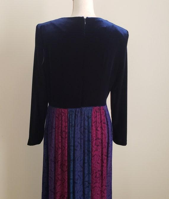 Vintage 1990s Karin Stevens Maxi Dress With Attac… - image 6