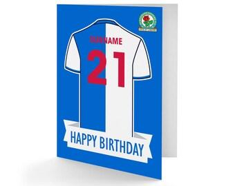 Blackburn football club gift wrapping paper gift tag birthday card,envelope