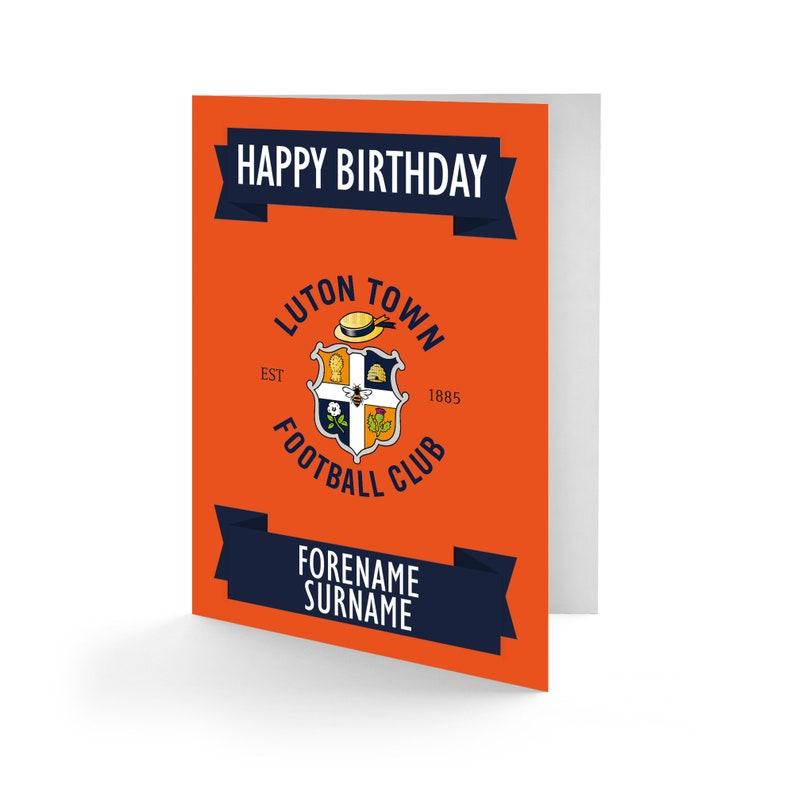 Luton Town FC Crest Birthday Card