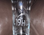 Golf Etched Glass Golfing Glass 19th Hole Glass Fathers Day Birthday Gift Glass Etched Glass